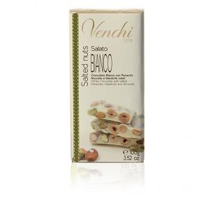 White Hazelnut Bar with Pistacios, Almonds and Hazelnuts Image